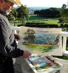 Painting at Laguna Cliffs Marriott Resort