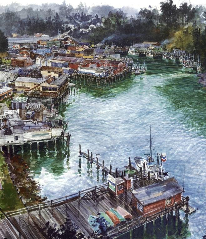 """""""Noyo River"""" (Detail)"""