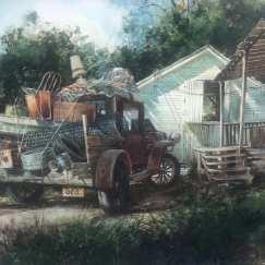 """Last Load"" Original watercolor"